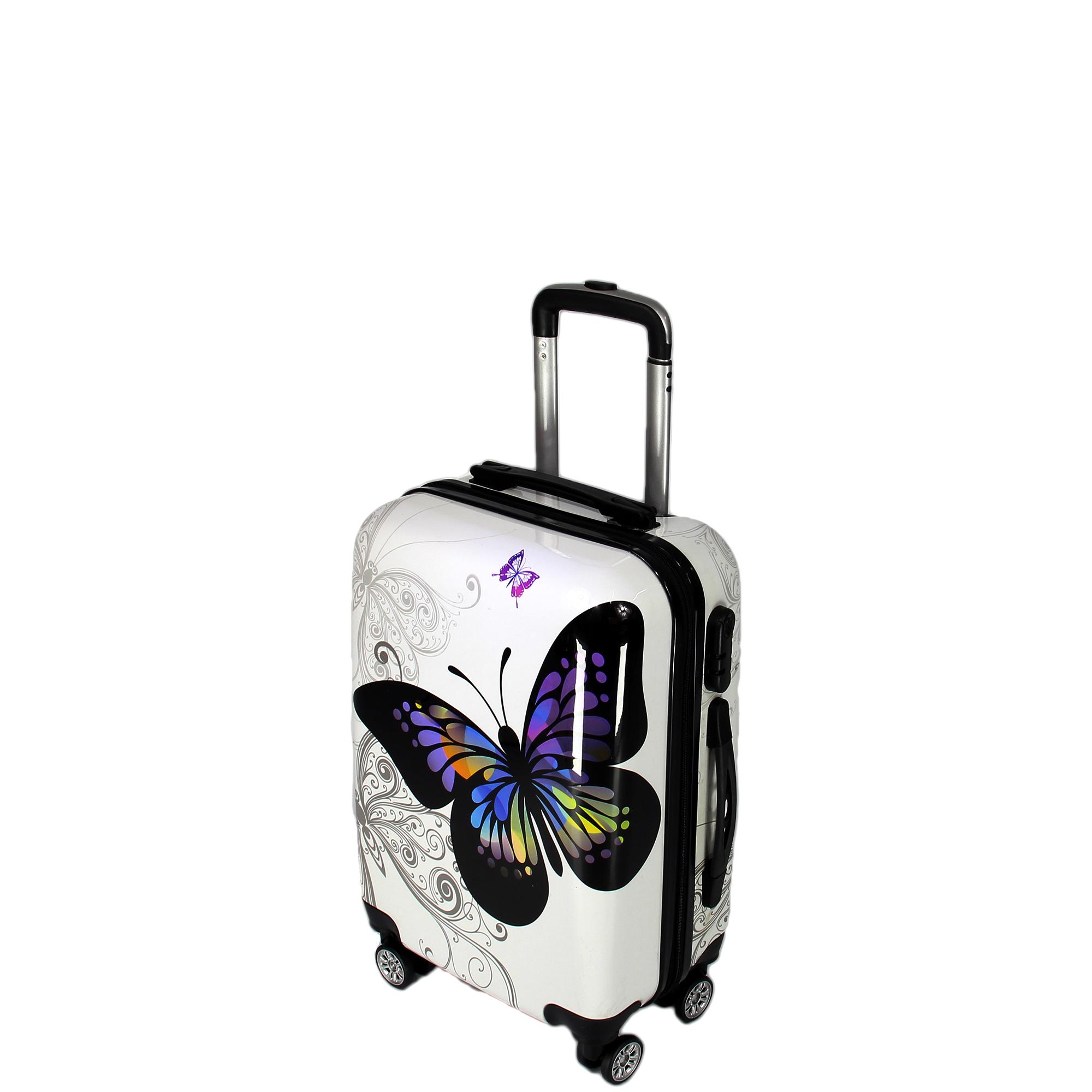 bagages ensemble valise de voyage papillon angleterre. Black Bedroom Furniture Sets. Home Design Ideas