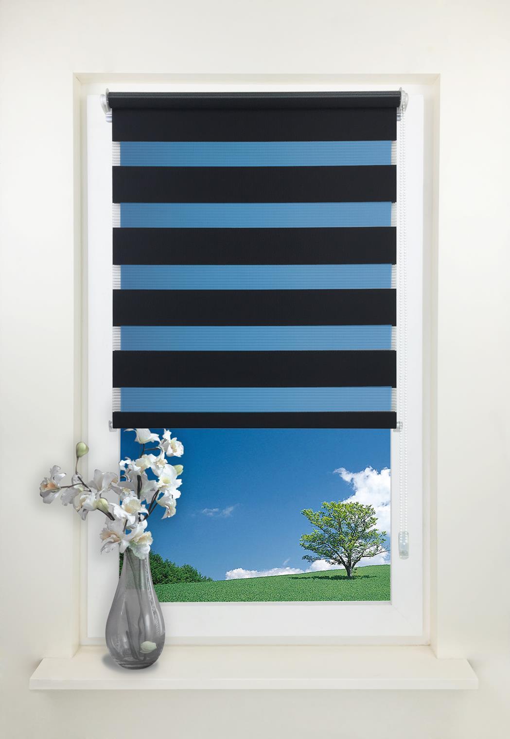 duo rollo doppelrollo ohne bohren klemmfix seitenzugrollo. Black Bedroom Furniture Sets. Home Design Ideas