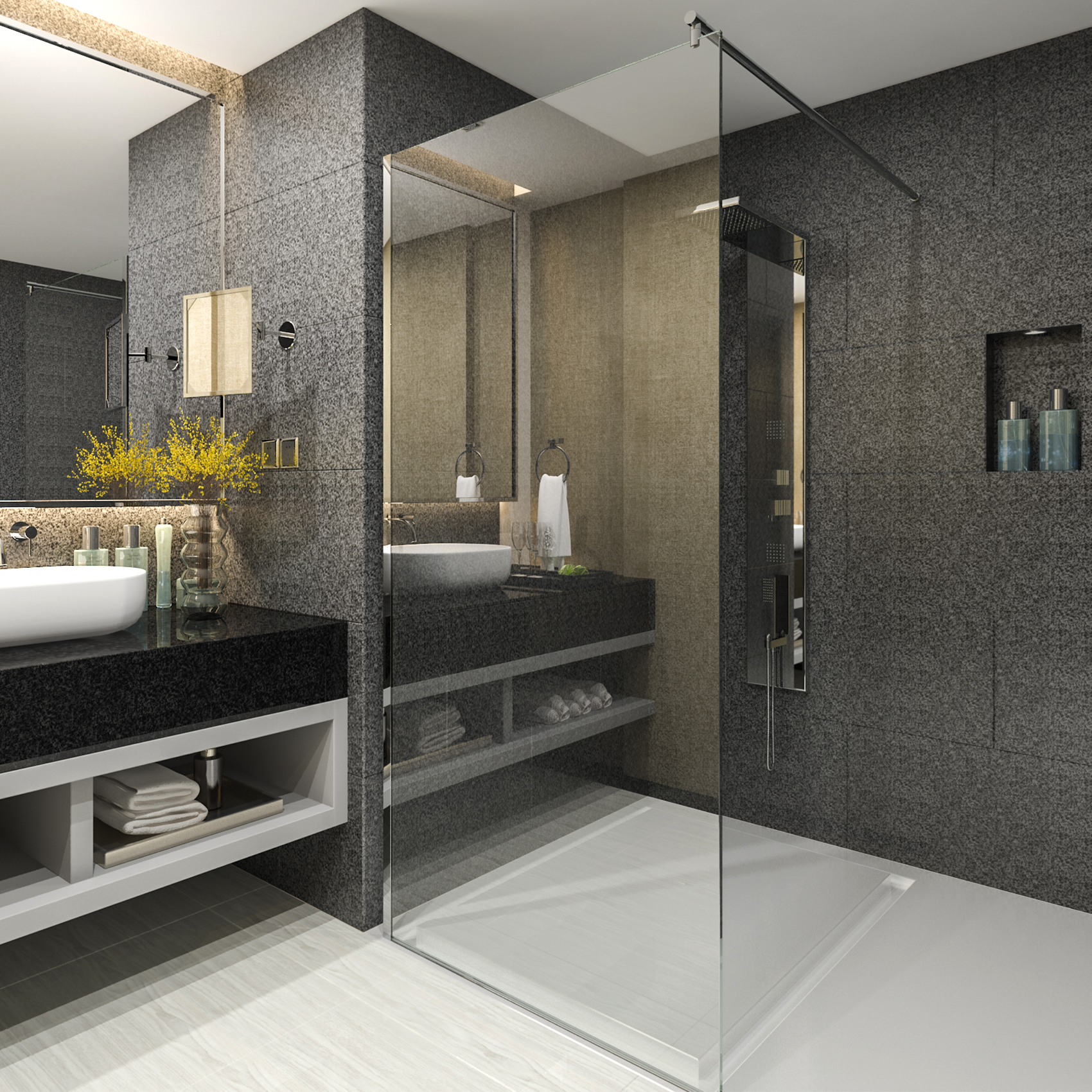 walk in paroi de douche 10mm esg verre cabine enceinte mur nano ebay. Black Bedroom Furniture Sets. Home Design Ideas