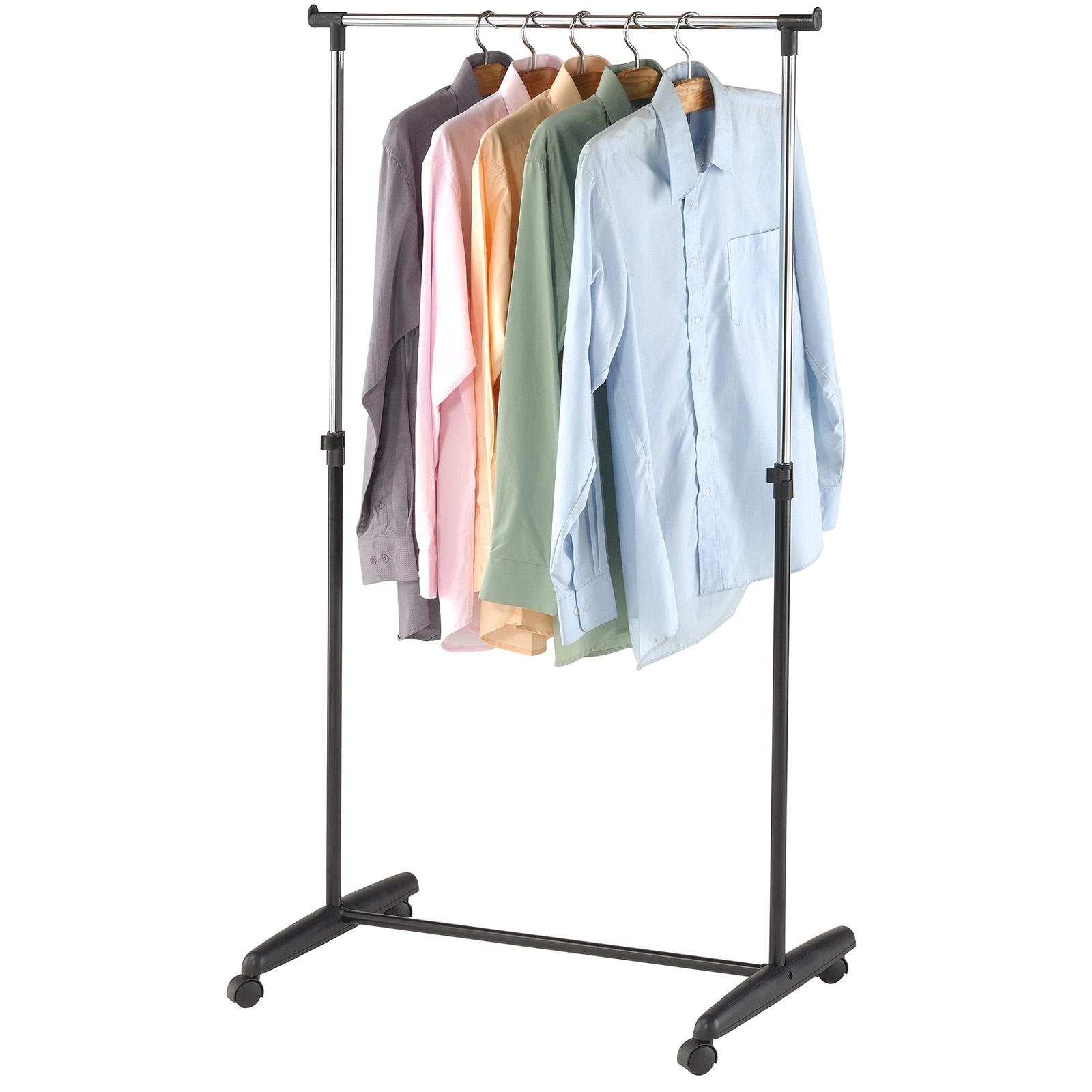 Mobiler Kleiderständer rollen kleiderständer kleiderstange mobiler garderobenständer