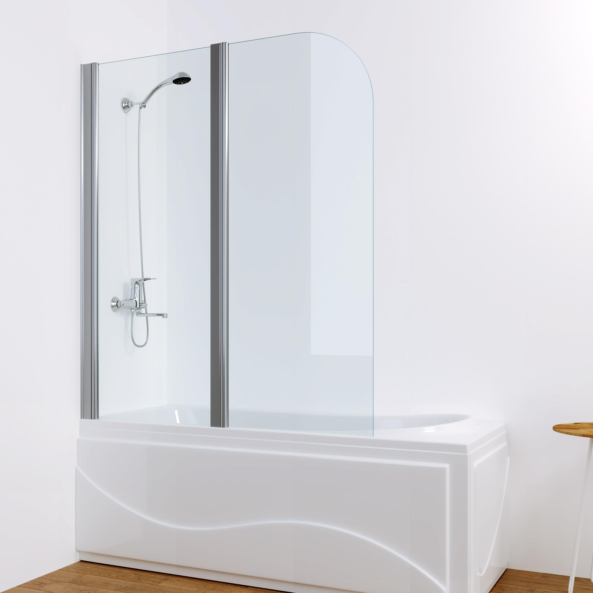 Duschabtrennung dusche badewannen aufsatz faltwand - Faltwand dusche ...