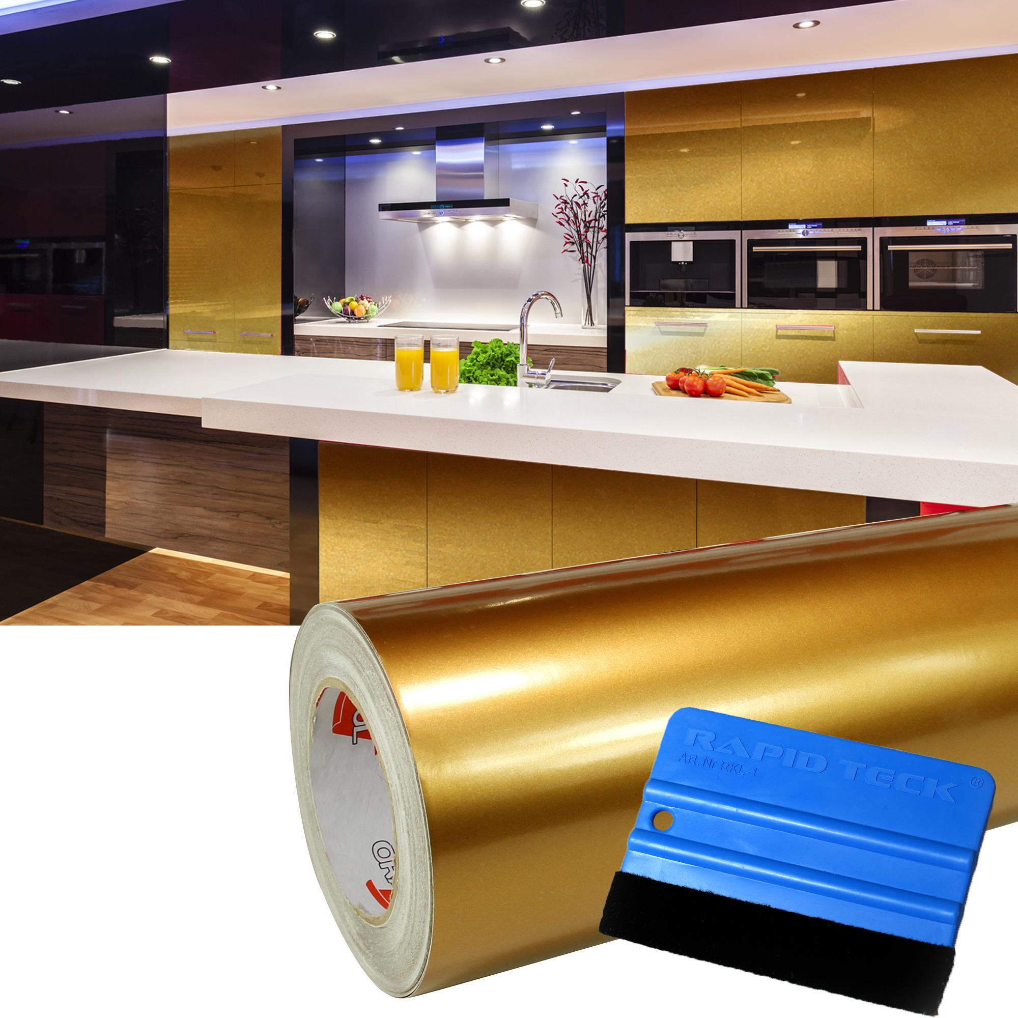 3 65 m 10m hochglanz gold m belfolie rakel. Black Bedroom Furniture Sets. Home Design Ideas
