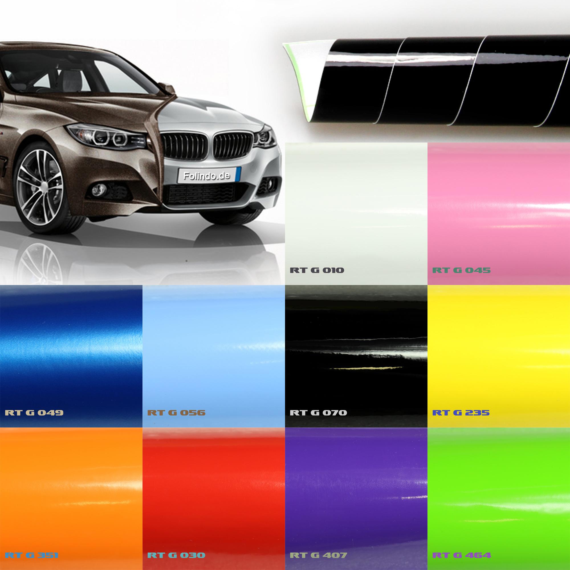 6,57€//m² Hochglanz ORANGE 5m x1,52m Auto Folie Glanz Luftkanal Wrap Autofolie