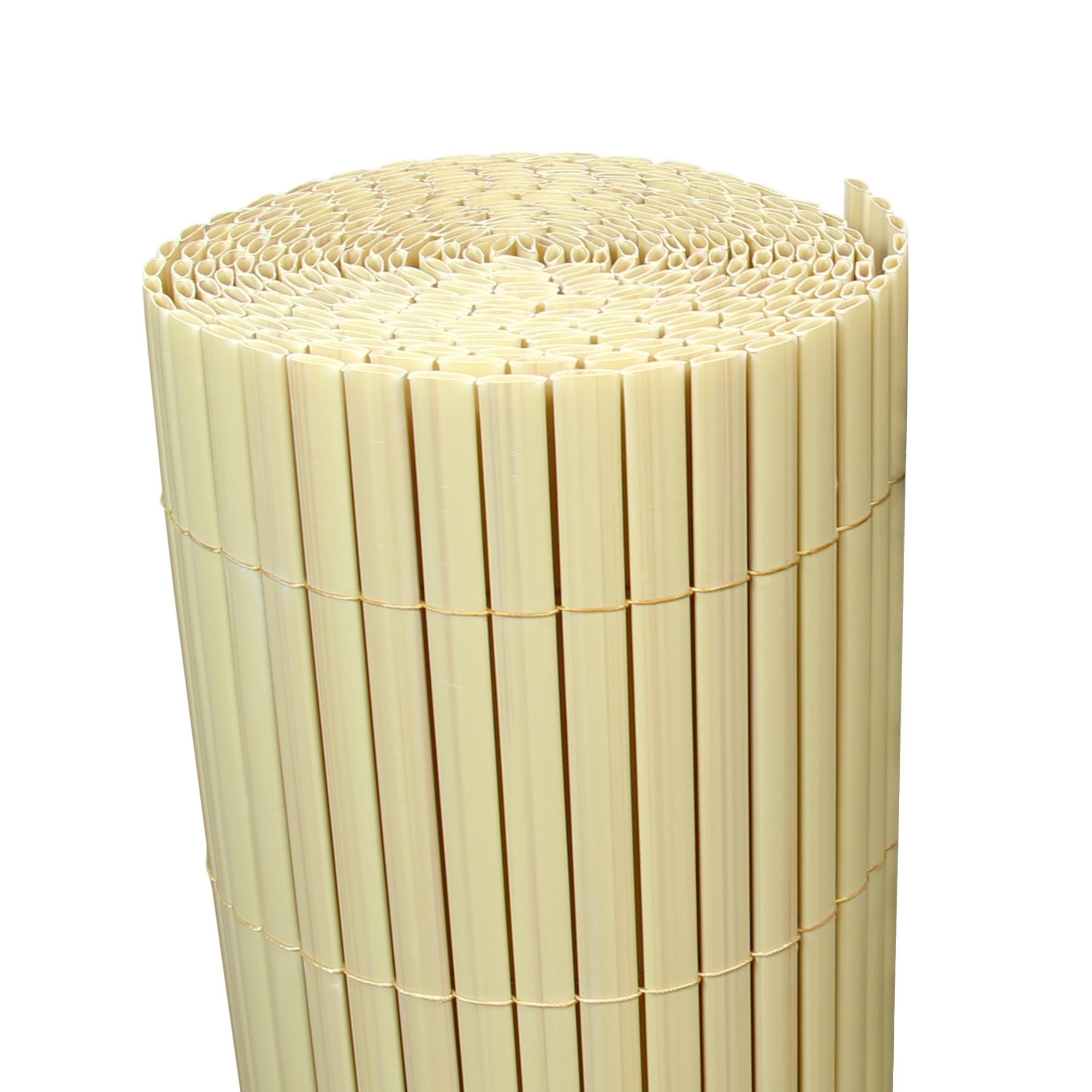 5 m bambus pvc sichtschutzmatte sichtschutz zaun balkon garten blickschutz ebay. Black Bedroom Furniture Sets. Home Design Ideas