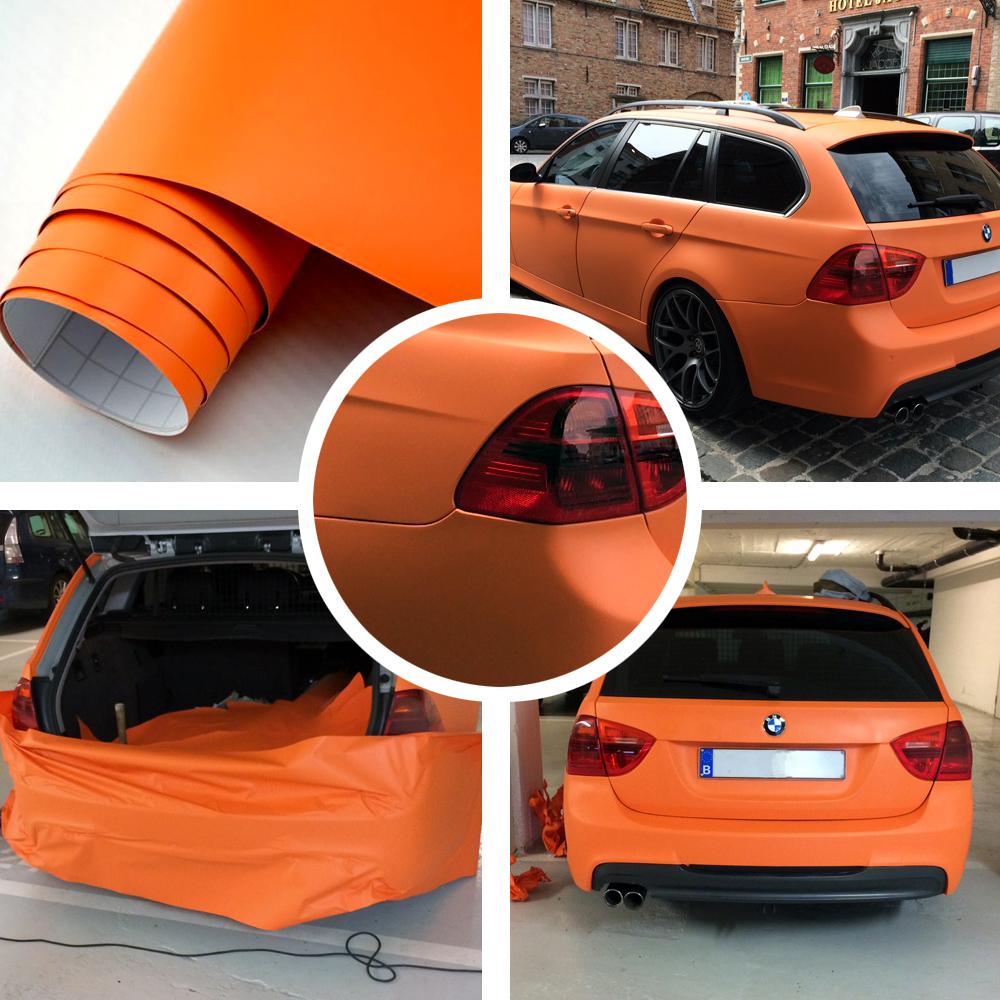 4 89 m 1m x 1 52m matt orange auto folie mit. Black Bedroom Furniture Sets. Home Design Ideas