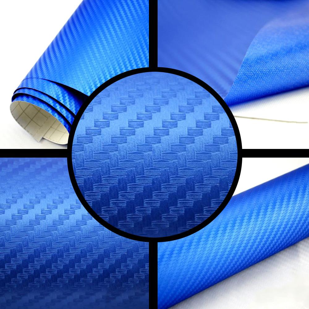 3D Carbon Folie wei/ß BLASENFREI 0,3m x 1,52m mit Luftkan/äle