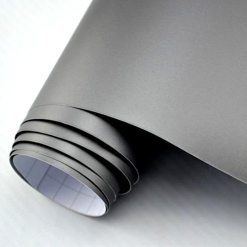 9 18 m car wrap folie silber grau matt metallic mit. Black Bedroom Furniture Sets. Home Design Ideas