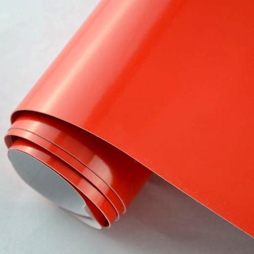 6 57 m blasenfreie hochglanz folie rot red autofolie for Hochglanz folie