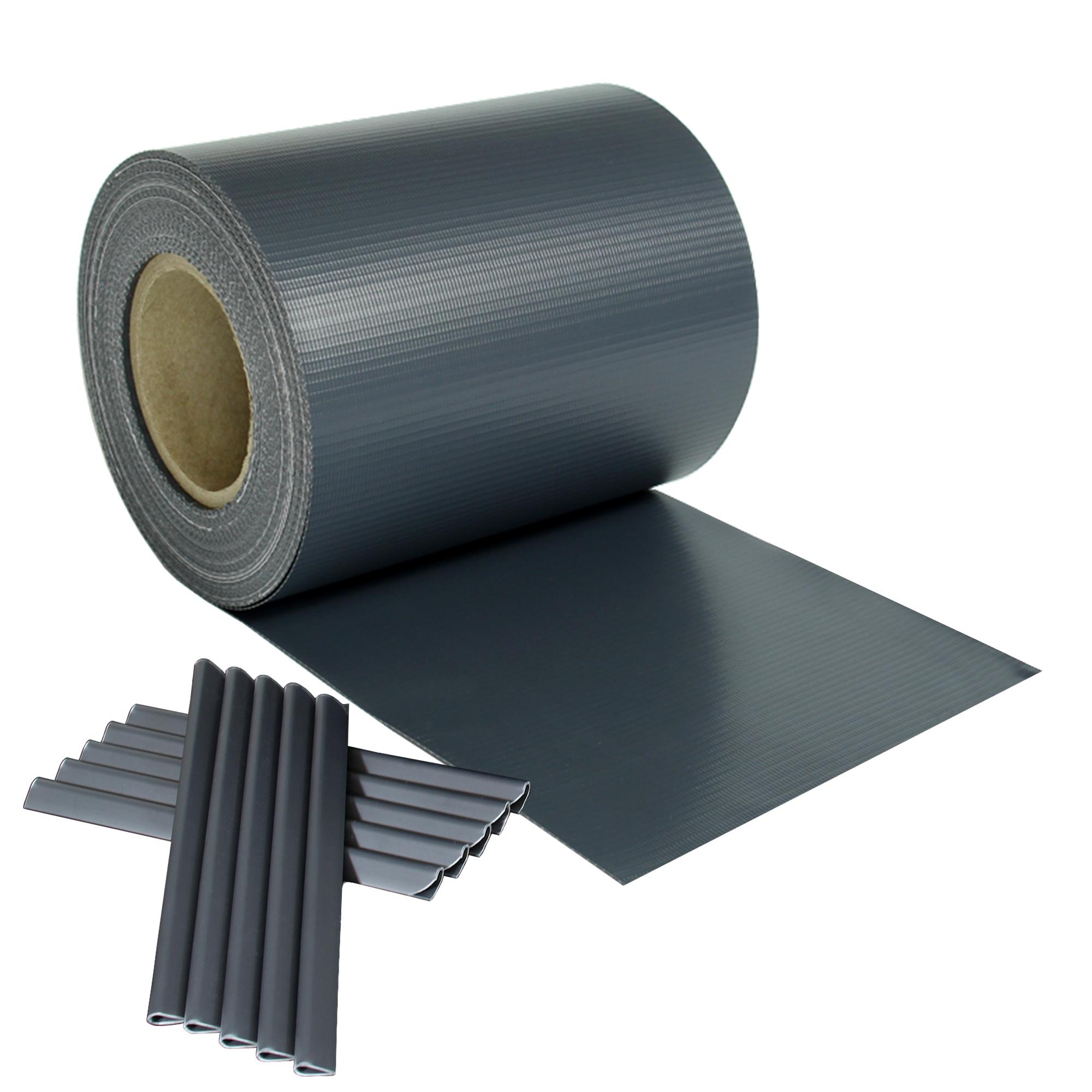 3 23 m sichtschutz streifen blickdicht pvc zaun windschutz doppelstabmatten ebay. Black Bedroom Furniture Sets. Home Design Ideas