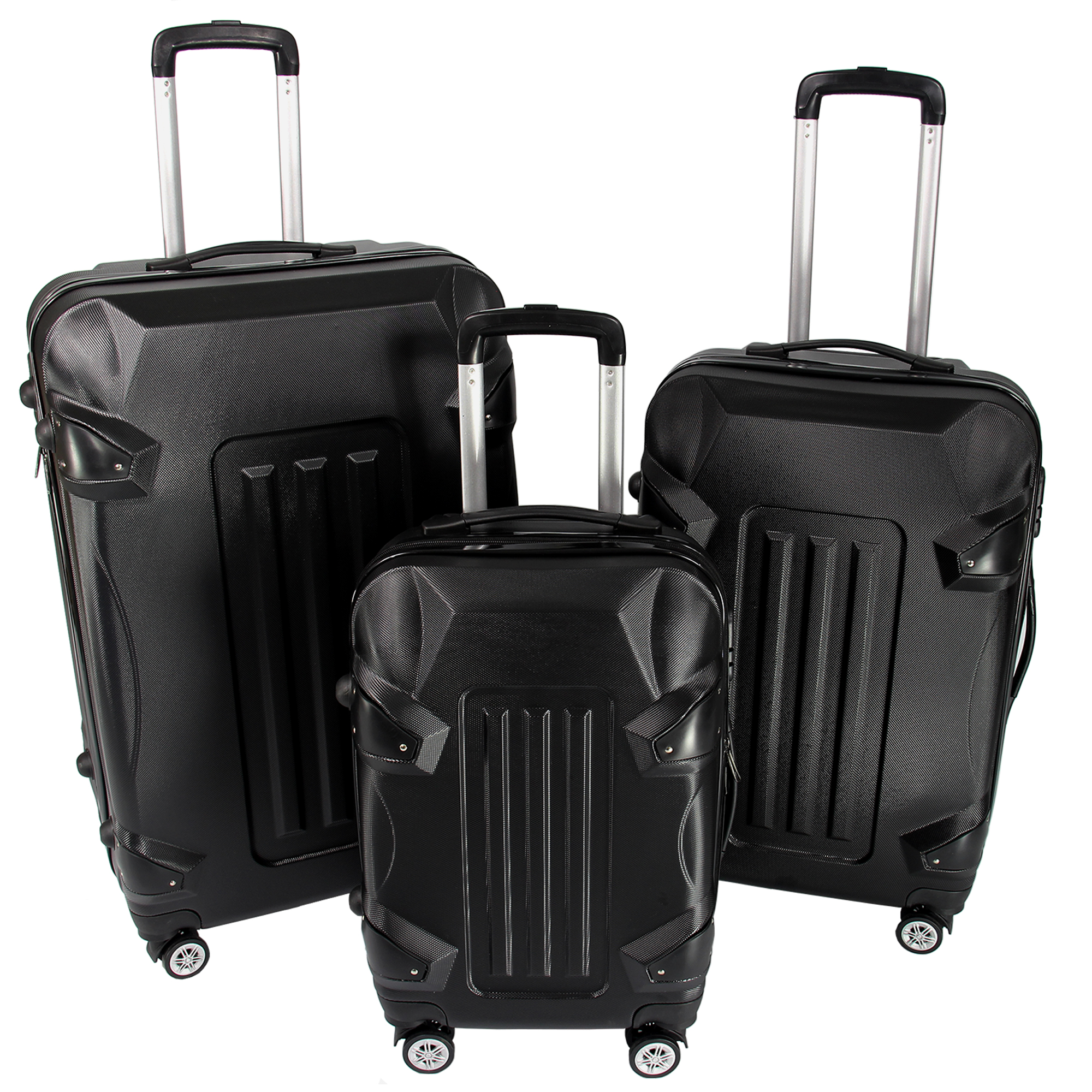 koffer set reisekoffer trolley hartschalenkoffer hartschale 1er 2er 3er carbon ebay. Black Bedroom Furniture Sets. Home Design Ideas
